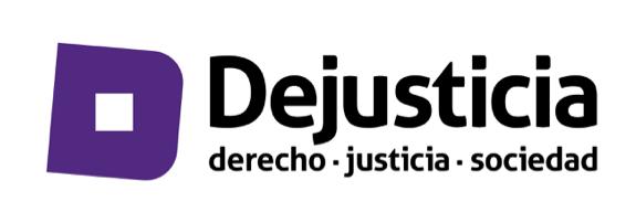 gráfica alusiva a Dejusticia
