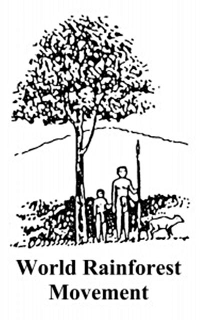 gráfica alusiva a Movimiento Mundial por los Bosques (WRM)