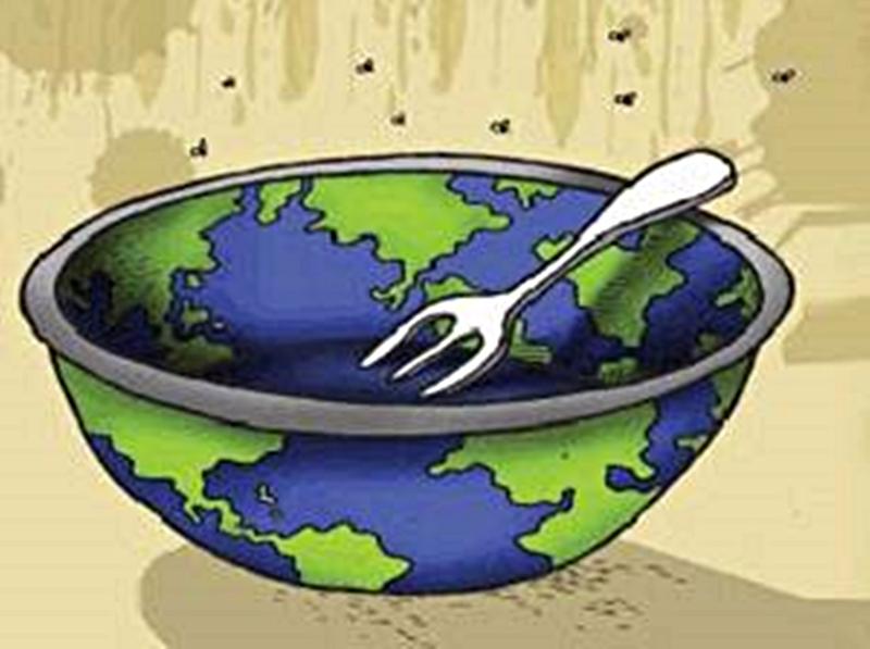 Grafica alusiva a Con el cambio climático... ¿quién nos alimentará?