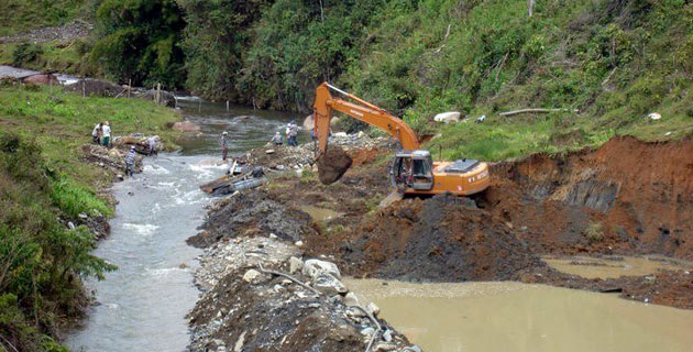 Grafica alusiva a El agua y la mina. El movimiento por el agua y la exacerbación de los conflictos mineros en Colombia