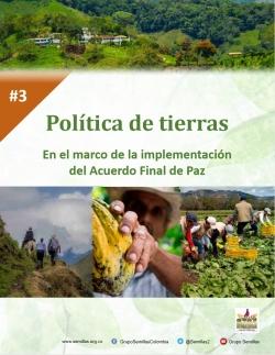 Grafica alusiva a Política de tierras en el marco de la implementación del Acuerdo Final de Paz