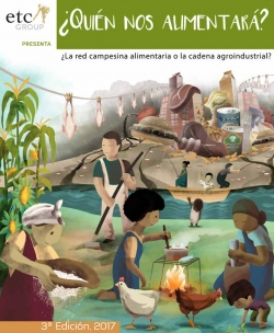 Grafica alusiva a ¿Quién nos alimentará? ¿La red campesina alimentaria o la cadena agroindustrial?