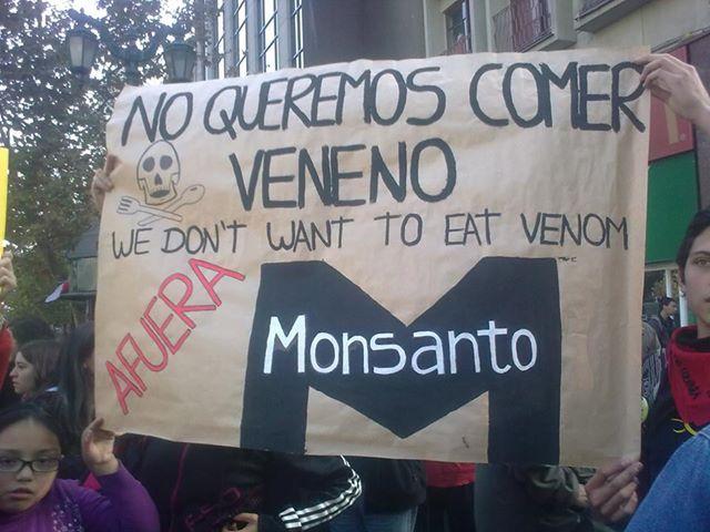 """Gráfica alusiva a Monsanto se disfraza con otros nombres. Tiene """"empresas"""" vendedoras de semillas transgénicas"""