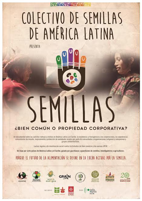 Gráfica alusiva a Colectivo de Semillas de América Latina presenta: Semillas ¿Bien común o propiedad corporativa?