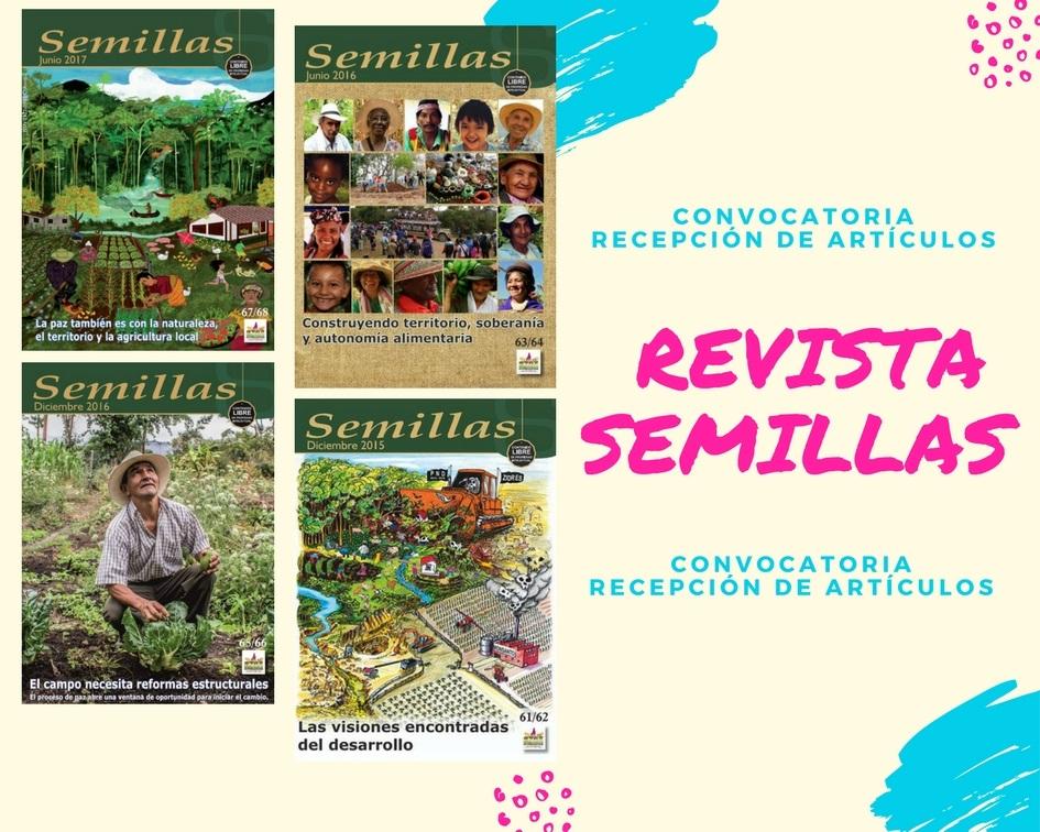 Imagen relacionada con Convocatoria abierta. Recepción de artículos para la edición 69/70 de la Revista Semillas