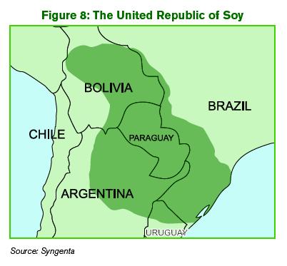 Gráfica alusiva a La República de la Soya